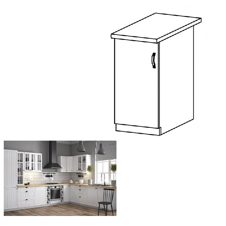 Spodní skříňka D40, levá, bílá / sosna andersen, PROVANCE