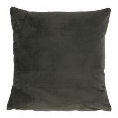 Polštář, sametová látka tmavozelená, 45x45, ALITA TYP 11