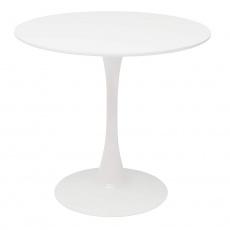Jídelní stůl, kulatý, bílá matná, REVENTON