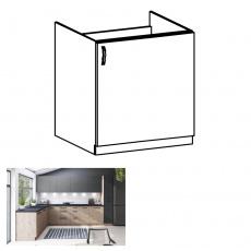 Dřezová skříňka, dub artisan, pravá, LANGEN D60Z