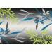 Koberec, vzor listy, vícebarevný, 67x120, TASNIM