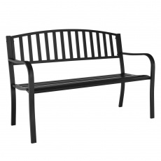 Zahradní lavička, černá, HEBRA