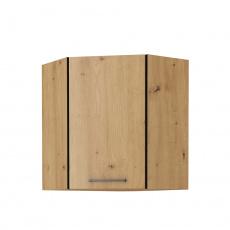 Horní skříňka, černý mat / dub artisan, Monro 60/60 GN-72 1F