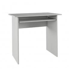 PC stůl, bílá, VERNER NEW