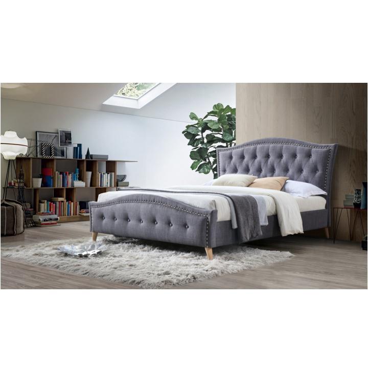 Manželská postel, šedá, 180x200, GIOVANA