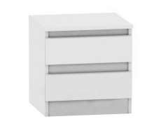 2 šuplíkový noční stolek, bílá, HANY 002